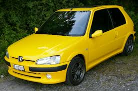 peugeot yellow factory 106 gti