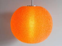 1950s orange glitter hanging light retro living uk
