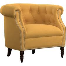 Barrel Accent Chair Yellow Accent Chairs You Ll Wayfair