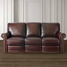Sofas Dark Brown Leather Motion Sofa Bassett Home Furnishings