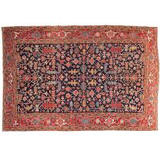 Red And Blue Persian Rug by Authentic Antique Room Size Heriz Persian Rug Early 20th Century