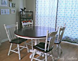 southern dining rooms refinished dining room table