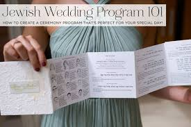 Wedding Ceremony Programs Diy Jewish Wedding Program 101 How To Create A Ceremony Program