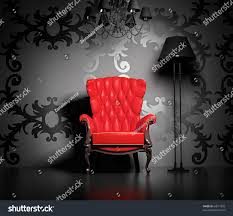 classic armchair 3d interior scene classic armchair lamp stock illustration