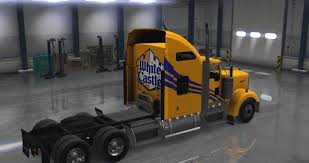 kenworth k200 usa kenworth w900 white castle 3 truck skins mod ats mod american