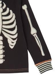 Halloween Skeleton Hands All Boy U0027s Clothing Black Halloween Skeleton Pyjama Set 1 12 Years
