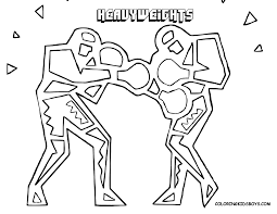 boxing gloves coloring pages getcoloringpages