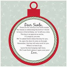 dear santa magical key printable christmas printables