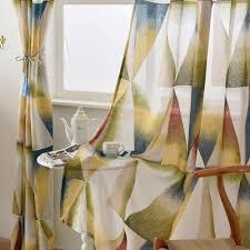 online get cheap designer kitchen curtains aliexpress com room burnout living geometric curtains colorful balcony short modern kitchen design fabrics semi sheer door