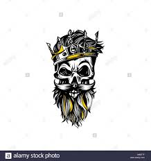 sketch skull with crown vector illustration stock