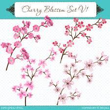 cherry blossom graphic set v1 tree designs blossom trees and