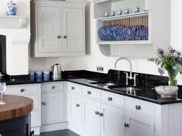 Modern Luxury Kitchen With Granite Countertop White Kitchen Black Granite Modern Luxury White Kitchen Black
