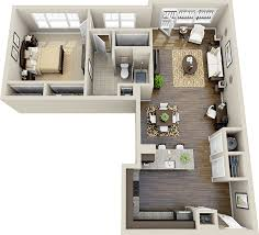 L Shape Home Plans 50 One U201c1 U201d Bedroom Apartment House Plans Architecture U0026 Design
