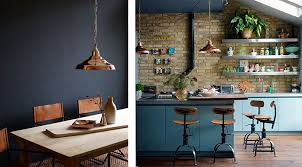 cuisine bleu petrole la fabrique à déco cuivre et bleu couleurs et matières