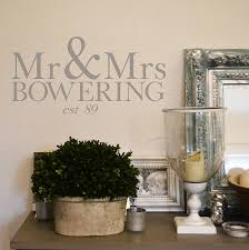 personalised mr and mrs wall sticker by leonora hammond personalised mr and mrs wall sticker