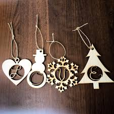 initial ornaments wood letter gift tags innotations