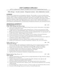 example resume for administrative assistant administrative