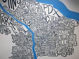 Portland Neighborhood Map Poster by Corie Hinton Blog