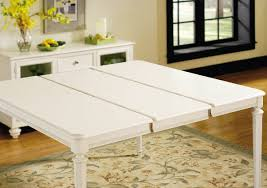 american drew camden light gathering table in white painted
