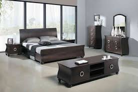latest bedroom furniture designs from wood in dark brown color for