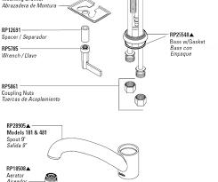 delta kitchen faucet parts diagram white handle kit moen faucet parts repair plumbing parts repair to