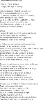 song lyrics for 14 home rule for