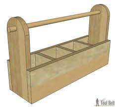 Free Wooden Tool Box Plans by Diy Wood Tool Box Caddy Her Tool Belt