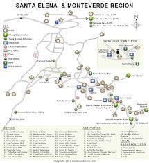 map of santa map monteverde costa rica rainforest cloud forest santa