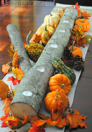 set the table fall inspiration and tips borrowed blue decor 5 minute autumn centerpiece jenna burger log that takes minutes to create and can be used home decor