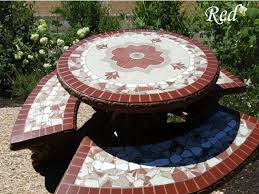 Patio Tile Table Cement Patio Furniture Tables And Benches San Diego Farm