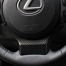lexus rcf carbon for sale carbon fiber car steering wheel decor cover for lexus nx200 200t