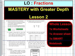 fractions mastery with greater depth sats ks2 year 5 6