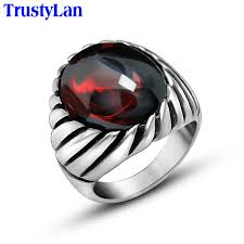 men rings aliexpress buy trustylan never fade solid stainless