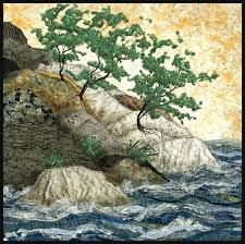 thread painting art quilts thread art quilt patterns native trees