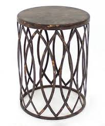 distressed metal coffee table antique gold finish round metal accent table metal accents