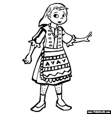 ethnic wear coloring pages 1