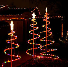 lighted outdoor christmas decorations simple outdoor com