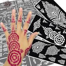 henna tattoo vorlagen blumen trendy hennatattoo blume vorlage