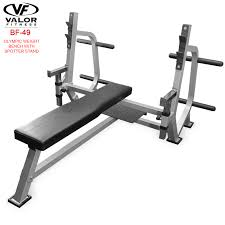bf 49 olympic weight bench with spotter stand valor fitness