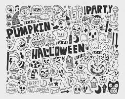 doodle halloween holiday background u2014 stock vector mocoo2003