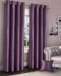 Aubergine Curtains Stylish Ring Top Eyelet Lined Curtains Plain Faux Aubergine Purple