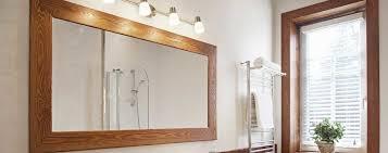 framed bathroom mirrors the glass guru