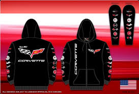 corvette hoodie corvette hoodie jacket w c6 emblem various generations on