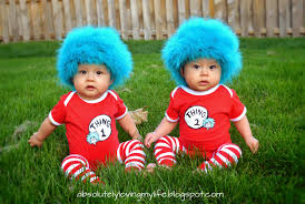 twins halloween costume idea loving life diy thing 1 and thing 2 baby costumes