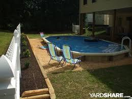 Inground Pool Landscaping Ideas Semi Inground Pool Landscaping Ideas Round Designs
