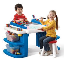 step 2 water table with umbrella step2 build store block activity table walmart com