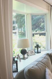 Curtains On Bay Window Living Room View Bay Window Curtains For Living Room Interior