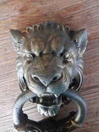 cast iron door knocker gothic lion head gothic lions and doors