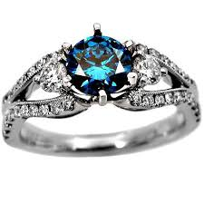 blue diamond wedding rings 1 7ct fancy blue diamond ring 18k gold accessory arsenal