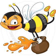 cartoon bee flying by polkan toon vectors eps 13484
